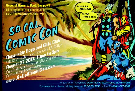 2011 So Cal Comic Con flyer