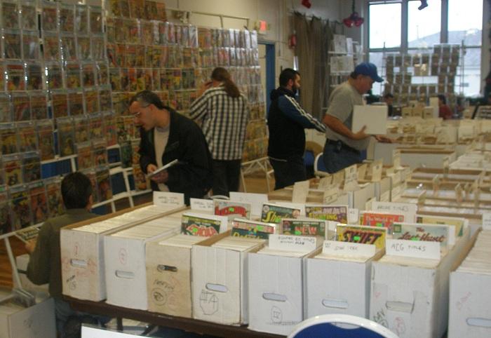 Fans shopping at Clifton NJ Comic Book Show
