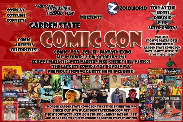 Garden State Comic Con flyer