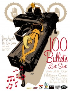 Dave Johnson & Brian Azzarello at 100 Bulllets: Last Shot Party