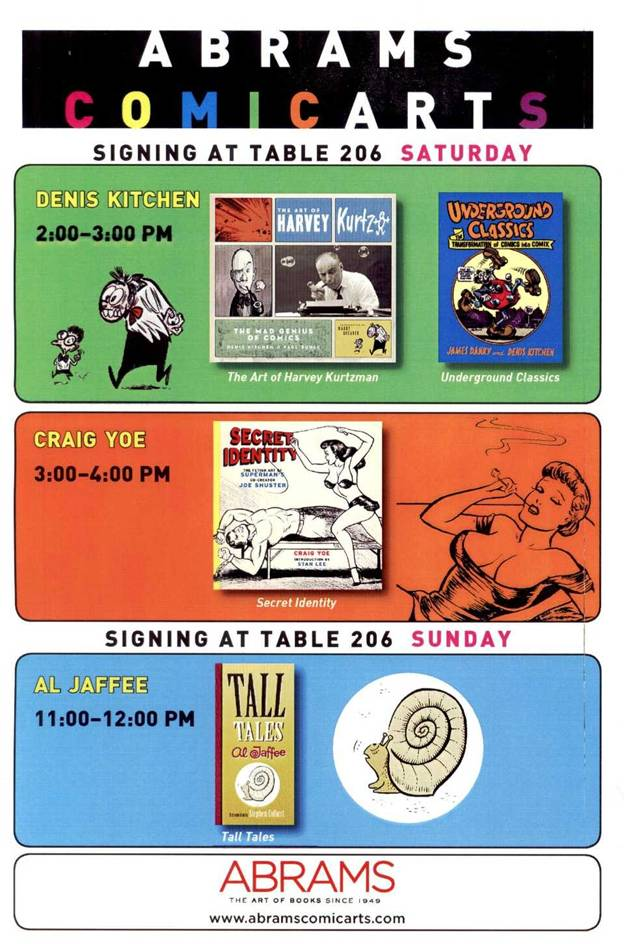 Abrams Books (Booth #206) at MoCCA ArtFest