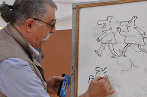 Sergio Aragones opens an exhibit at the Ojai Valley Museum.