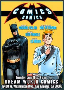 Michael Uslan speaks at Dream World Comics on June 16.