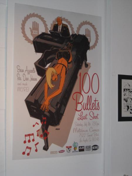100 Bullets ad for the party.