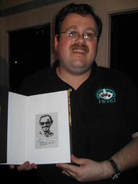 Joel Elad wins Stan Lee Soapbox hardcover with tip in plate.