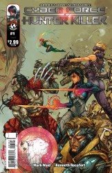 Cyberforce/Hunter-Killer #1 cover B by Kenneth Rocafort