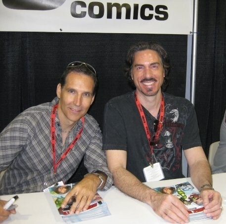 Todd McFarlane and Marc Silvestri at the Image United signing.