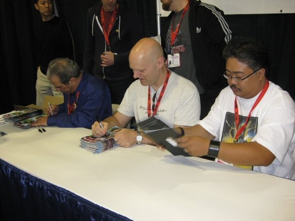 Jim Valentino, Erik Larsen, and Whilce Portacio rounding out the Image United table.