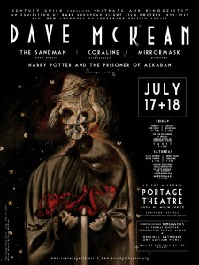 Dave McKean hosts an exhbition and film screenings on July 17-18th.