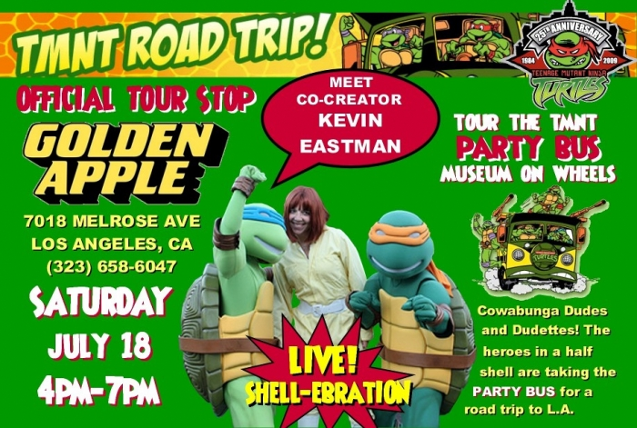 Kevin Eastman signs at Golden Apple on July 18th.