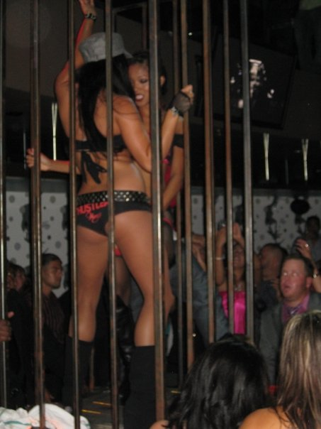 "Dancers dancing in the cage. In the words of Paris Hilton, ""That's hot."""
