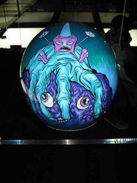 Alex Pardee's helmet, back view. Amazing!