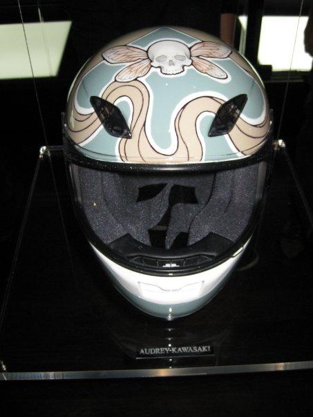 Audrey Kawasaki's helmet.