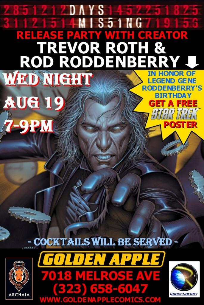 Trevor Roth & Rod Roddenberry sign at Golden Apple Comics