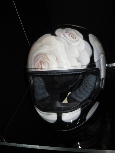 James Jean's helmet, frontal view.