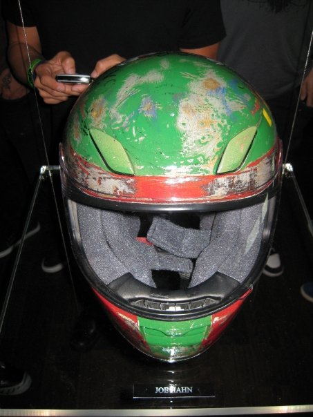 Joe Hahn's helmet.