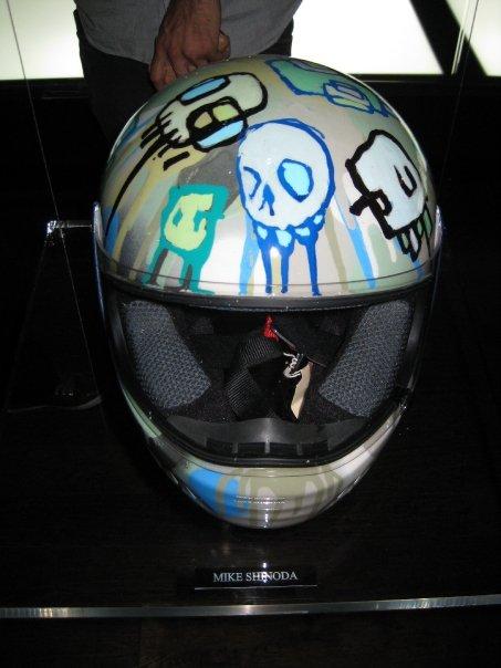 Mike Shinoda's helmet.