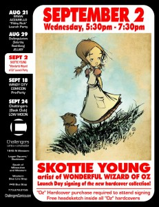 Skottie Young signs at Challengers on Sept 2nd.
