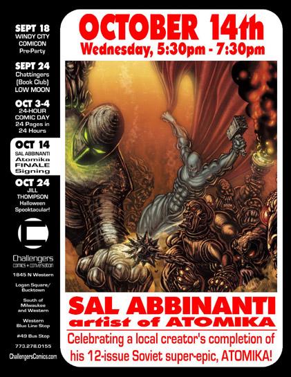 Sal Abbainanti signs on Oct. 14th