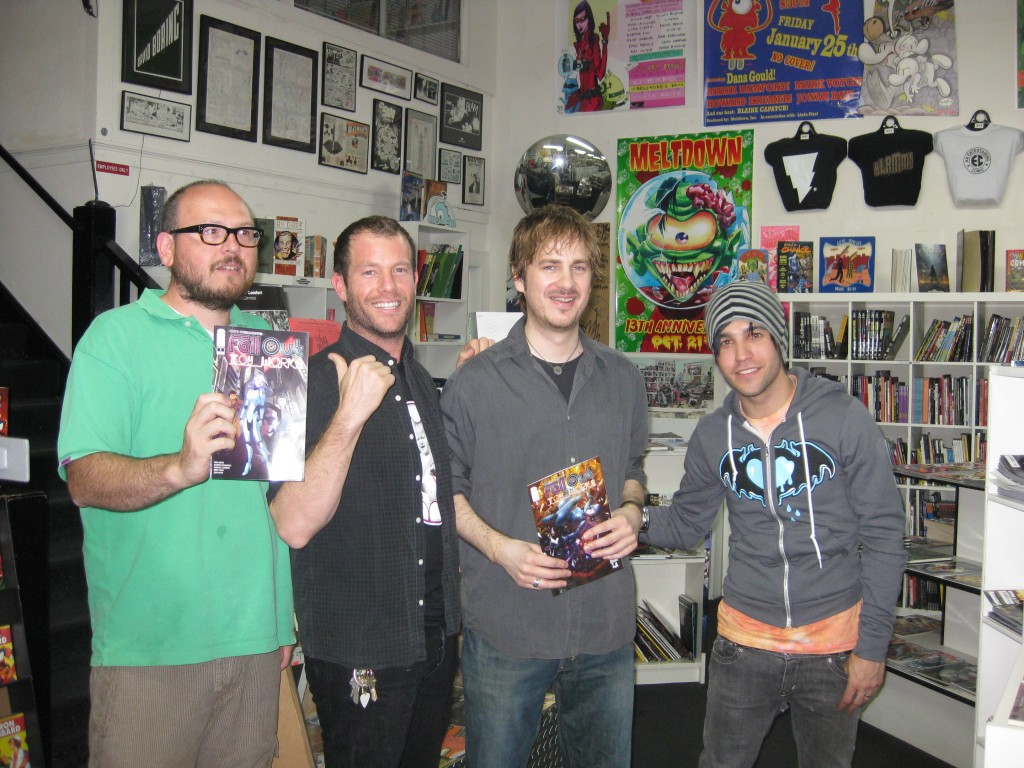The creators with the owner of Meltdown.