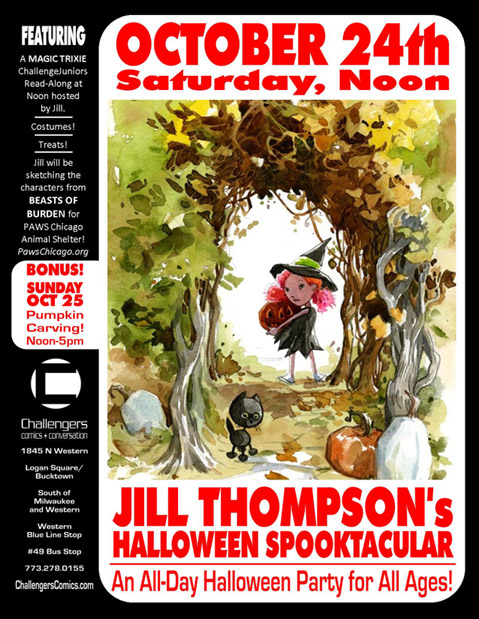 Jill Thompson signs on Oct 24th