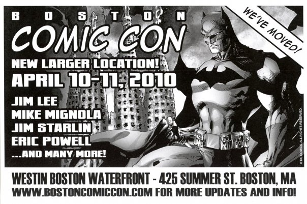 Jim Lee, Mike Mignola, Eric Powell, and many more appear at Boston Comic Con on April 10-11, 2010