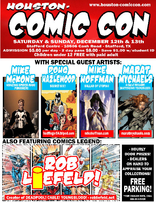 Houston Comic Con flyer