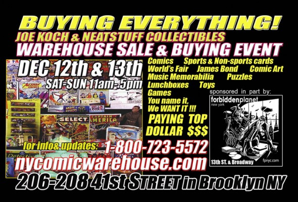 Joseph Koch & Neat Stuff Collectibles Warehouse Buying & Selling Event
