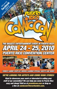 Puerto Rico Comic Con flyer