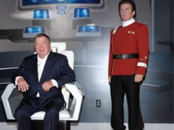 William Shatner with his wax likeness