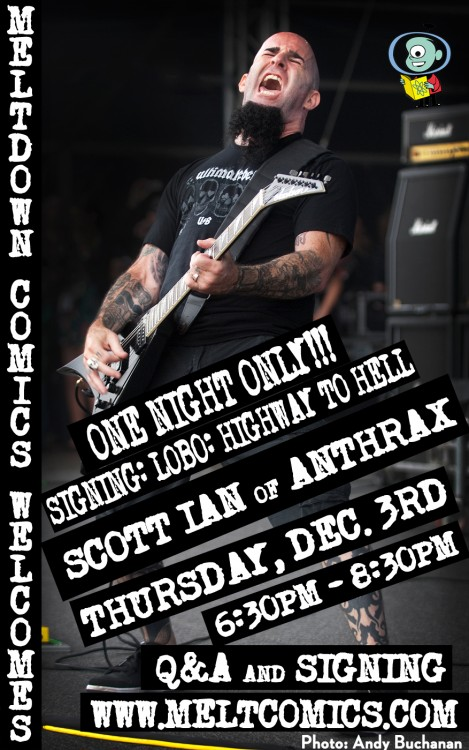 Scott Ian signs on Dec 3rd
