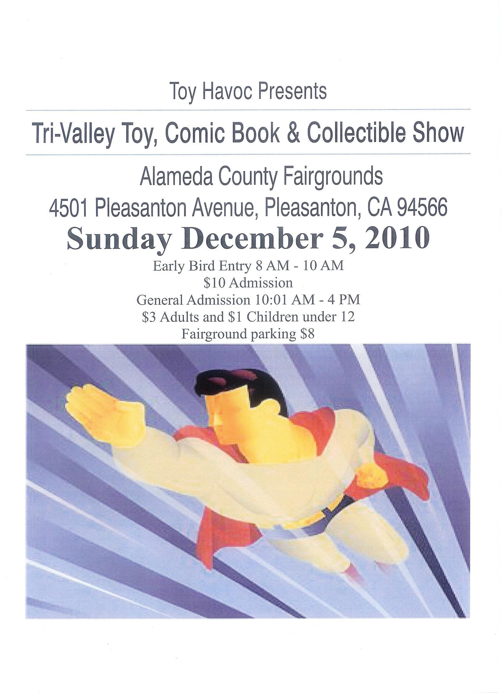 Tri-Valley Toy, Comic Book & Collectible Show flyer