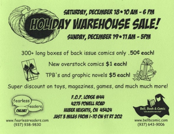 Holiday Warhouse Sale Flyer