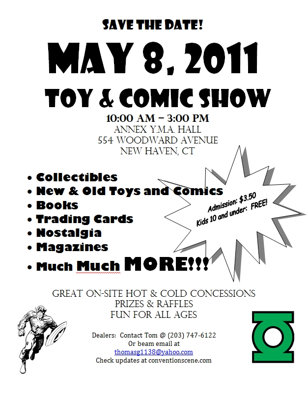 New Haven Comic and Collectibles Spectacular flyer