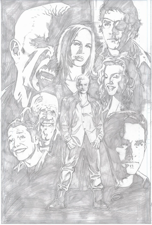 Steve Scott BuffyFest pencils