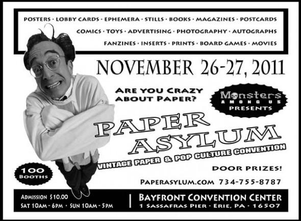 Paper Asylum flyer