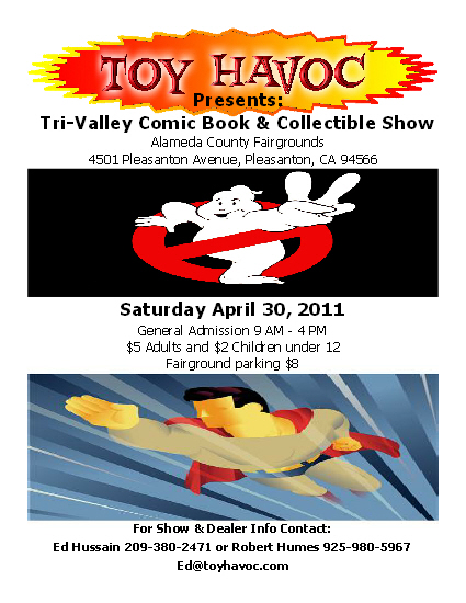 Tri-Valley Comic Book & Collectible Show April Flyer