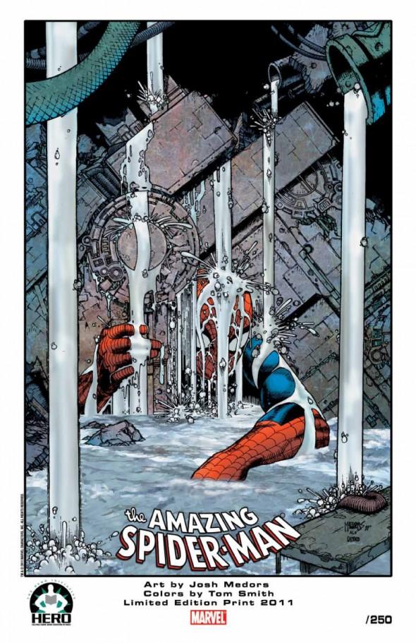 Josh Medors Spider-Man print