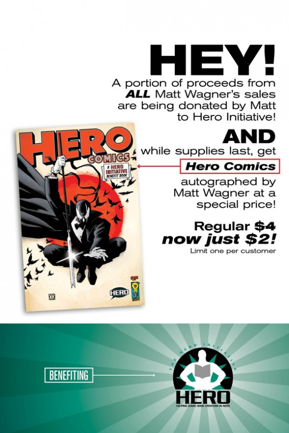 San Jose Big Wow! Matt Wagner Hero Initiative