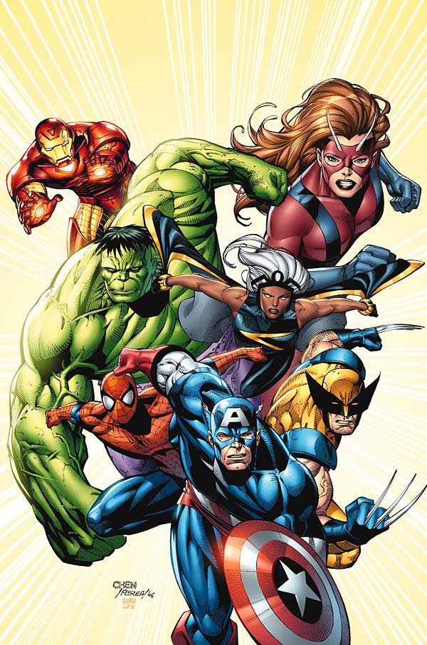 Sean Chen Marvel Adventures Avengers #8