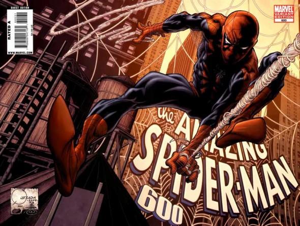 Amazing Spider-Man #600 cover by Joe Quesada