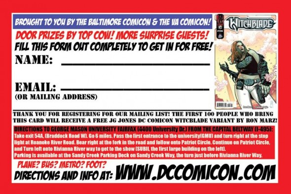 DC Comicon entry form