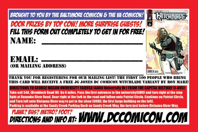 DC Comicon entry form