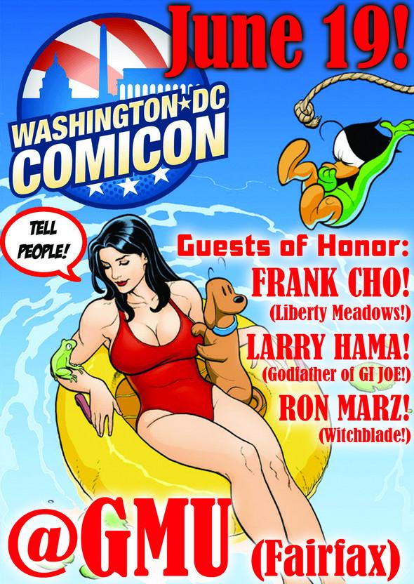 Washington DC Comicon flyer