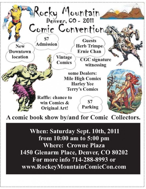 Rocky Mountain Comic Convention flyer