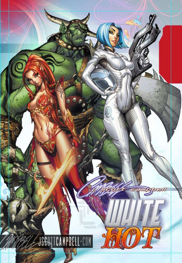 J. Scott Campbell White Hot SDCC 2011