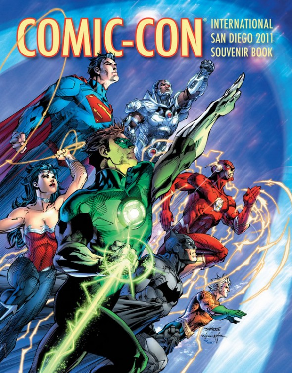 SDCC 2011 Souvenir Book with Justice League art by Jim Lee