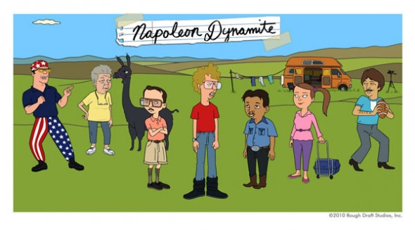 Napoleon Dynamite cartoon