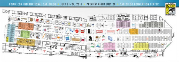 SDCC 2011 Exhibitors Map