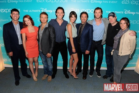 The Avengers at D23 2011